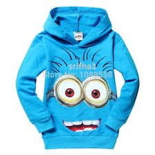 NEW DESPICABLE ME MINIONS BOYS GIRLS CLOTHES CHILD KID HOODIES GIFT T-SHIRT TOPS