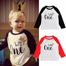 Cotton Toddler Baby Boy Girls t-Shirts Tee Long Sleeve Tops Clothes Size 12M-5T