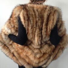 Red real fur  fox Exclusive bolero jacket coat  vest
