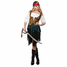 Caribbean Pirate Girl Hen Night Fancy Dress Party Halloween Costume by Wicked
