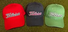 Titleist Needle Point Men's Golf Cap Hat NEW Navy Sage Green Red Adjustable