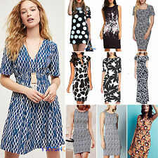 Womens Floral Print Summer Dress Casual Party Cacktail Sundress Mini/ Maxi Dress