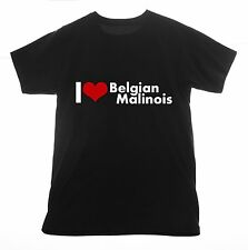 Belgian Malinois t shirt I love Clothing Tee T-shirt Heart dog pet breed French