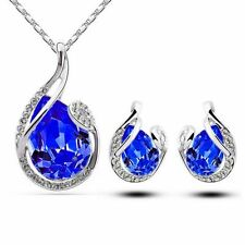 Necklace Jewelry Set White Gold Plated 1 Sets Including Necklace And Earrings