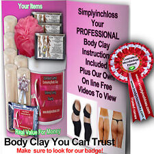 1ltr & 6 Contouring Bandages Kit Bums/tums body wrap clay/inch loss/toning£24.99