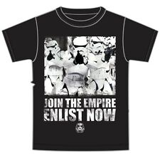 Star Wars Adult T-Shirt Support Troops Storm Troopers Empire Black