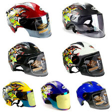 Buy S-XL Motorcycle Scooter 3/4 Open Face Helmets with Flip Up Shield Visor SP92