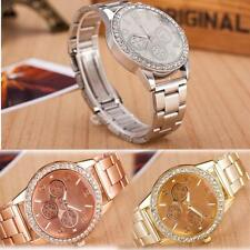 Crystal Fashion Stainless Steel Band Analog Wrist Watch Quartz
