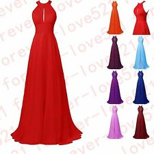 Stock New  Chiffon Formal Evening Party Prom Bridesmaid Dresses Stock Size 6-16+