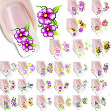 3D Design Nail Sticker Water Transfer Flower Manicure Stickers Tips Decal Wrap