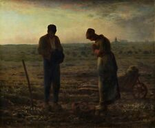 The Angelus by Jean-Francois Millet, ca. 1858 (classic French art)