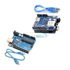UNO R3 Board + Ethernet Shield W5100 SD Slot Expansion Board For Arduino New