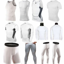 Mens Compression Base Layer Tight Tops Pants Leggings Under Shirt GYM Sportswear