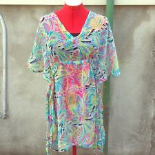 *NEW* Mud Pie PAISLEY *S/M* Swim Cover Up/Dress Butterfly Tunic/Shirt 4, 6, 8,10