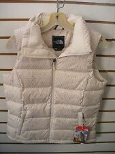 THE NORTH FACE WOMENS NUPTSE 2 DOWN VEST- JACKET-AUDP- G WHITE PRINT- LARGE-NEW