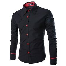 Mens Dress Shirts Fashion Long Sleeve Striped Shirt Mens Slim Fit Casual Clothin