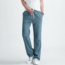 Men's casual pants New Men's solid color linen casual trousers Stylish and comfo