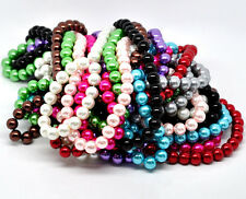 150 x Glass Pearl 6mm Round Beads Jewellery Making UK Seller Various Colours