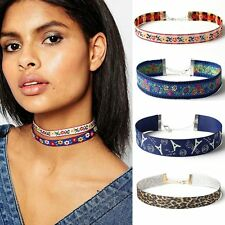 Multicolor Collar Ethnic Necklace Bohemian Choker Jewelry Embroidery