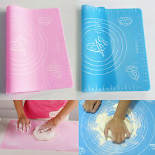 Silicone Rolling Cut Kneading Dough Mat Fondant Cake Clay Pastry Icing Tool New
