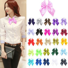 Fashion Women Girls New Party Banquet Cravat Solid Stain Knot Bow Tie Neckties