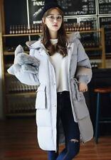 Womens Stylish Down Cotton Blend Thicken Slim fit Hooded Long Jacket Coat new #