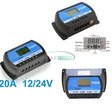 10A/20A/30A PWM Solar Panel Controller Charge Regulator 12V/24V Auto With USB