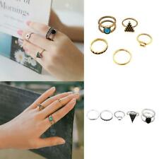 5Pcs/Set Punk Ethnic Style Boho Triangle Midi Finger Knuckle Rings for Women