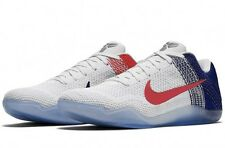 Nike Kobe 11 Elite Low USA Olympic White Red Mens Shoes 822675-184 Size 7-12