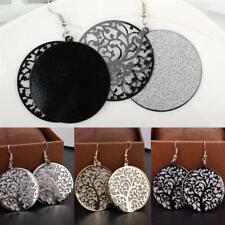 1 Pair Vintage Glitter Frosted Tree of Life Pendant Earrings Women Girl Jewelry