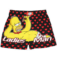 The Simpsons Homer Ladies Man Mens Boxer Shorts M239 Valentines Day