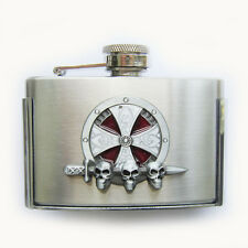 Original 3oz Stainless Steel Flask Belt Buckle Gurtelschnalle Boucle de ceinture