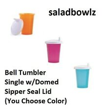 TUPPERWARE New BELL TUMBLER 7 oz Single Cup w/ Sipper Seal Domed Lid YOU CHOOSE!