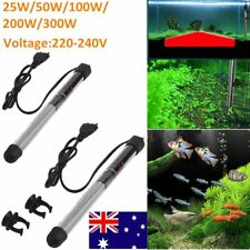 25-300w Stainless Steel Heater Heating Rod Safe For Aquarium Fish Water Tank E5