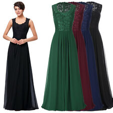 Women Long Evening Party Prom Gown Sleeveless V-Neck Bridesmaid Cocktail Dress❤