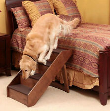 Large Wooden Pet Stairs Dog Puppy Cat Folding Steps Ramp Ladder Bed Sofa Couch