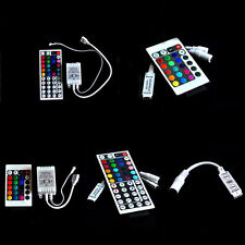 For 3528 5050 RGB LED Strip Light 3/10/24/44 Key* IR Remote Wireless Controller