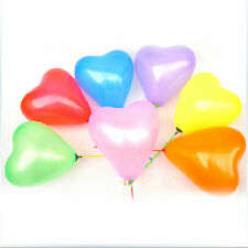 200pcs Colorful Heart Shaped Latex Balloons Wedding Birthday Party Decoration F8