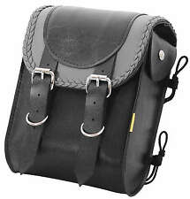 "Willie & Max Gray Thunder Braided Sissy Bar Bag 8"" W x 10"" H 4-1/2"" D Grey"