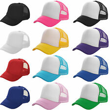 Mens Womens Baseball Cap Adjustable Mesh Blank Snapback Sport Golf Sun Visor Hat
