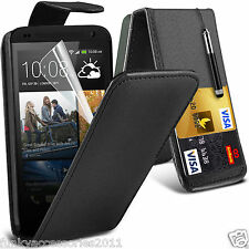 Top Flip Quality Leather Phone Case Cover✔Screen Protector for HTC