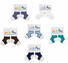 Baby Boys 3 PACK Sock Ons Sock Keepers Size 6-12 Months - Choose Your Colours