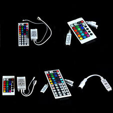For 3528 5050 RGB LED Strip Light 3/10/24/44 Key IR Remote Wireless Controller#C
