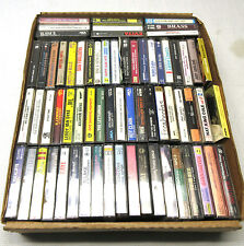 Lot of 60+ Music Cassette Tapes Various Artists Genres Pop Rock R&B Soul Mixed