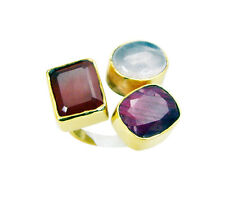 Multi Red onyx Copper Ring L-1in well-favoured Multi wholesales AU K,M,O,Q