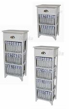 NEW SOLID 3 4 5 DRAWER BASKET WICKER WOODEN DRAWER CABINET STORAGE CHEST UNIT