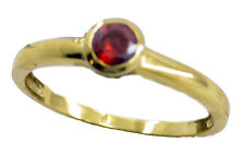 Ruby CZ Gold Plated Ring marvelous Red suppiler AU K,M,O,Q