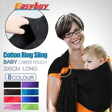 Baby Ring Sling Carrier Pouch Wrap Newborn to Toddler 100%Cotton in Multi-colors
