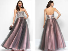 New Long Formal Evening Party Bridesmaid Ball Gowns Prom Wedding Dress Size 6-16