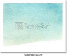 Abstract Watercolor Background. Colorful Blue Water Color Art Hand Paint....